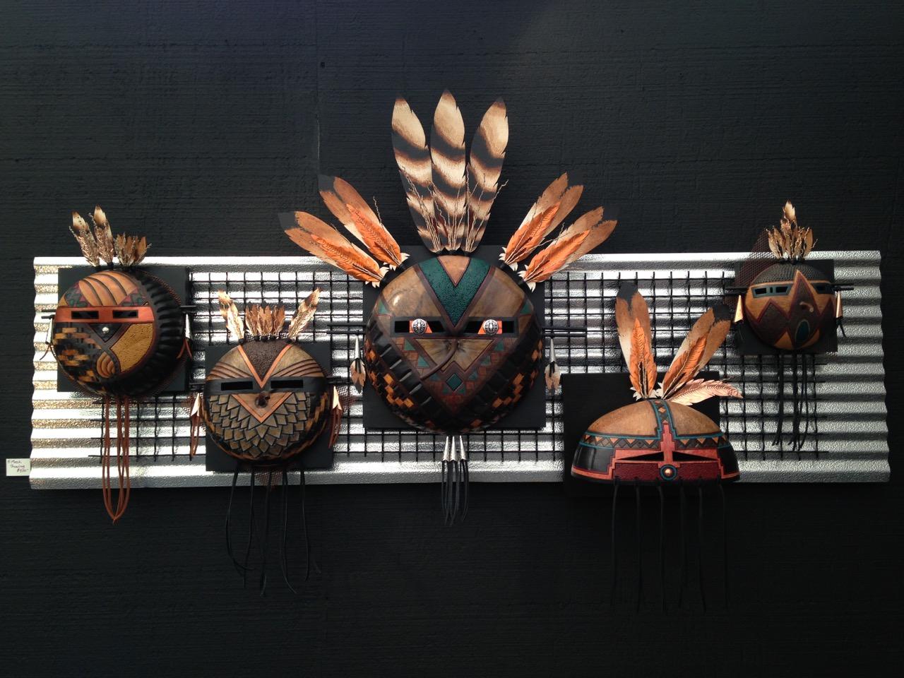Five Masks Showing 1A