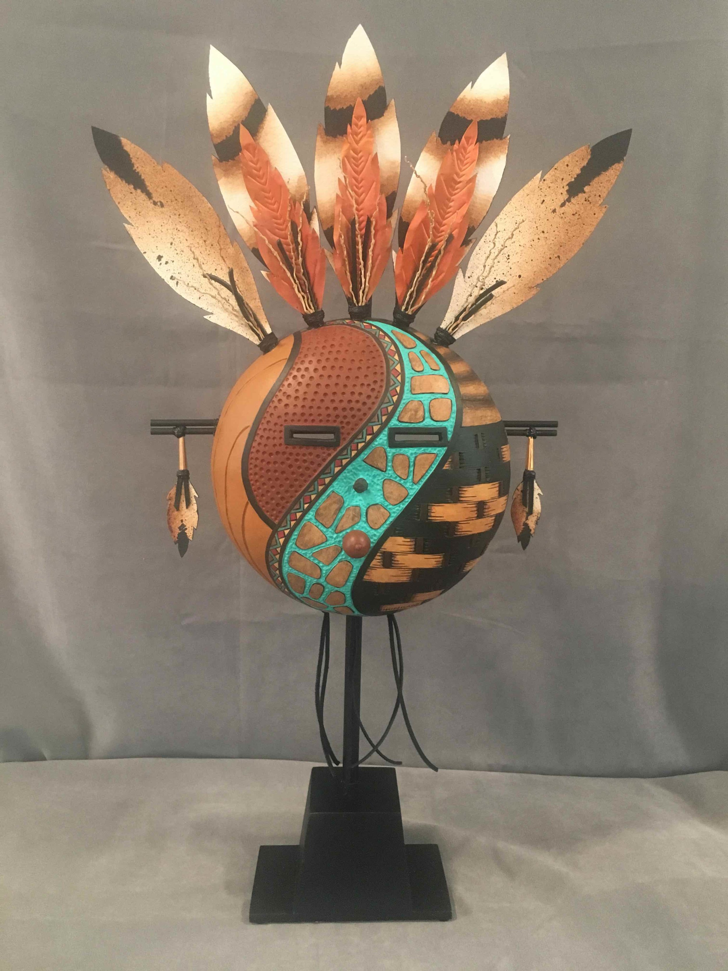 Copper Feather Mask