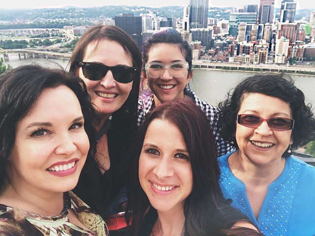 Loved every minute with these beauties! #pittsburgh #theincline #blackandgoldauthorevent