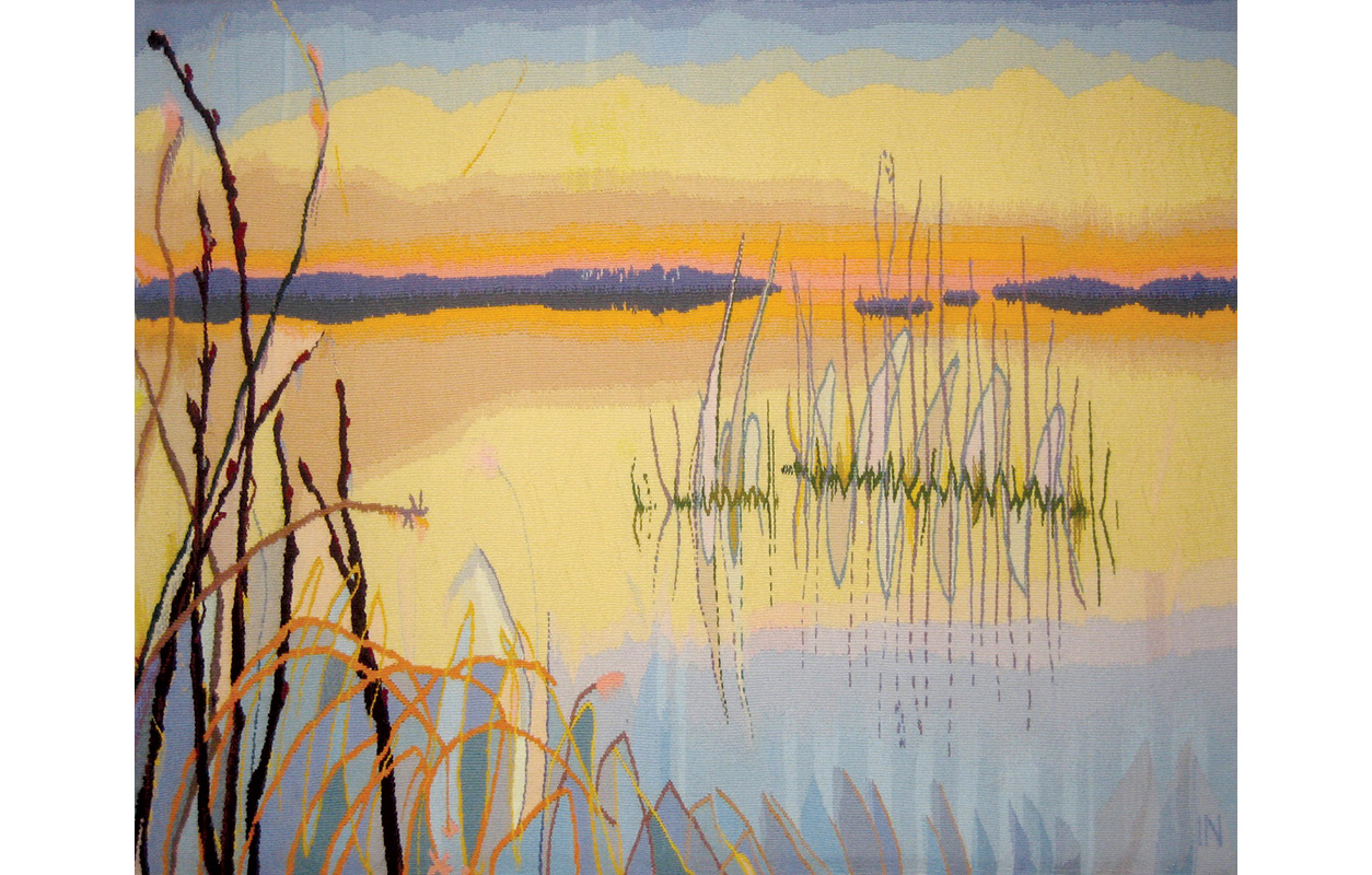 """The Delta (First of a Triptych) ,wool on cotton,34"""" x 44"""""""