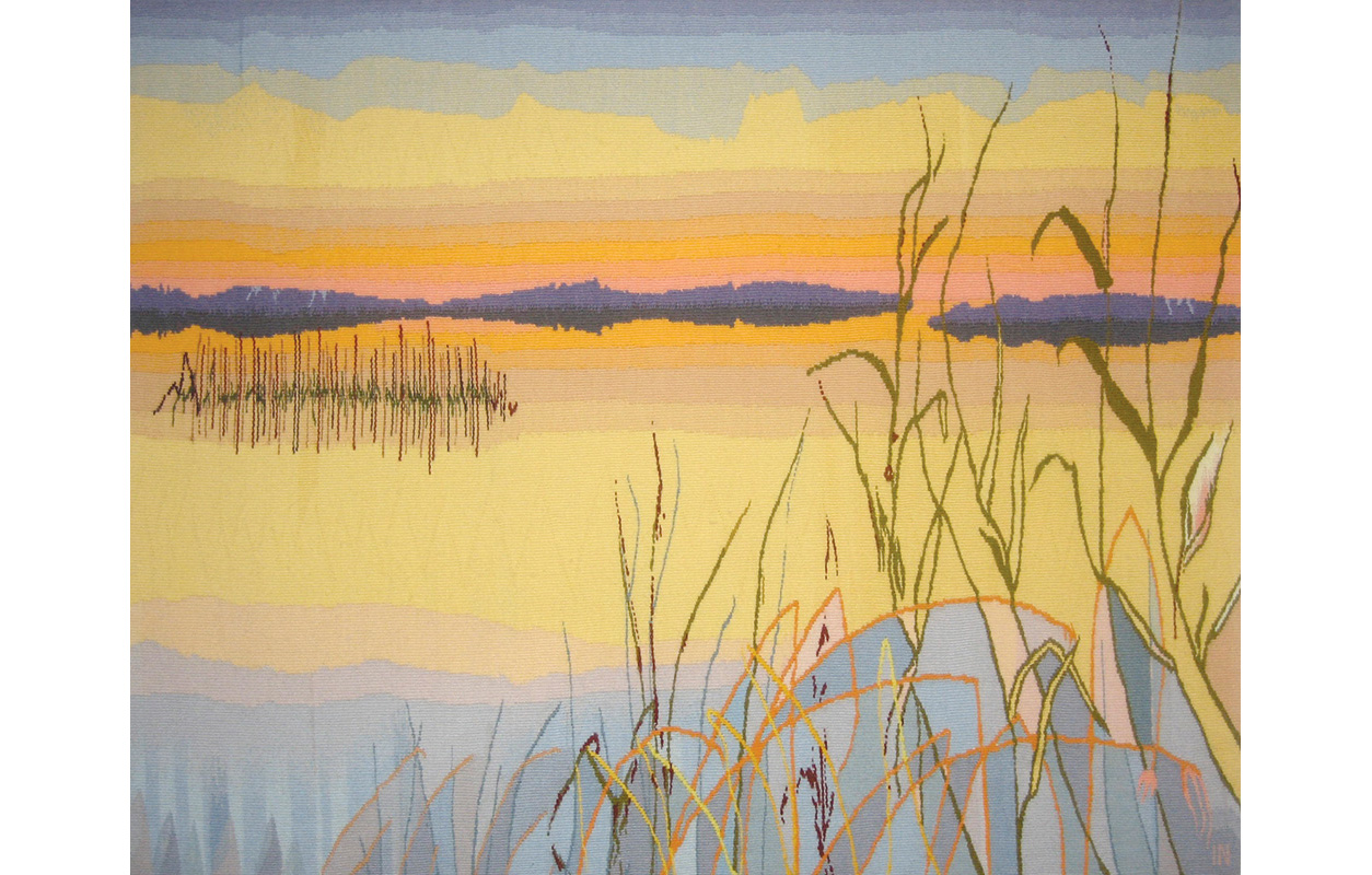 """The Delta (Third of a Triptych) ,wool on cotton,34"""" x 44"""""""