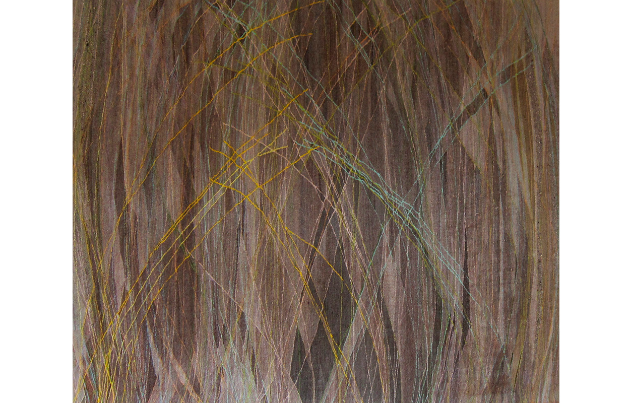 "Grasses , wool on cotton, 60"" x 78"""