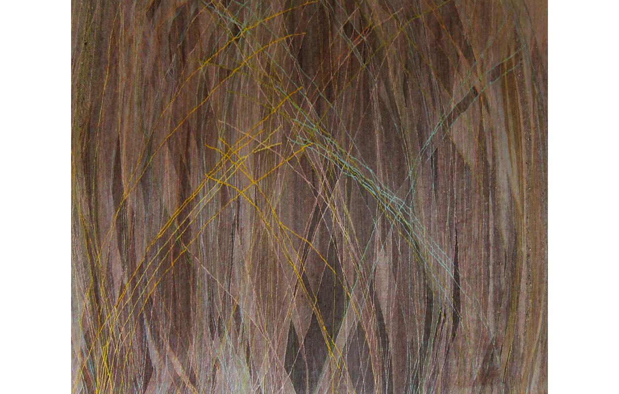 "Grasses ,wool on cotton,60"" x 78"""