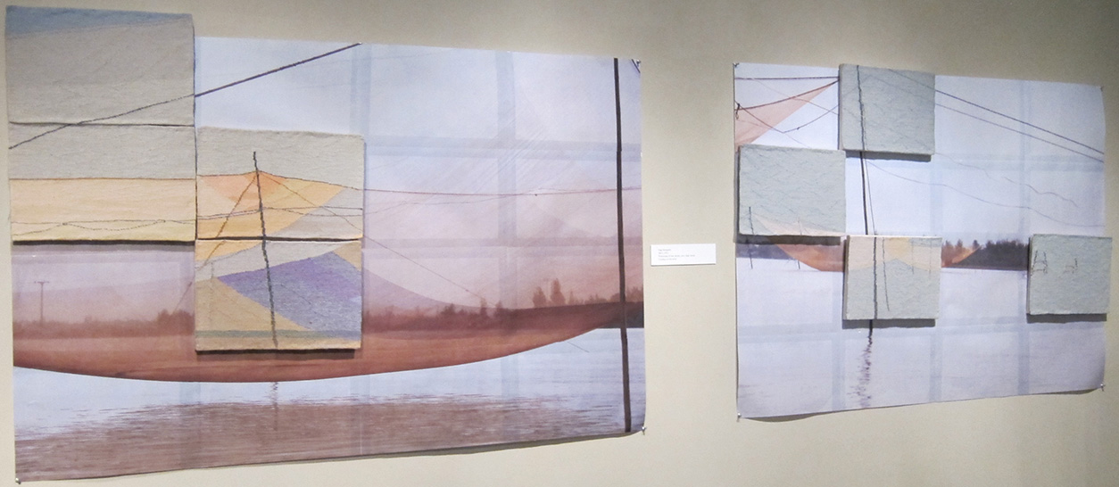 Northwest Designer Craftsman at 60, 2014 , Watcom Museum, Bellingham, WA,  Nets 1 & 3,  Mixed media: Tapestries on Photocopy