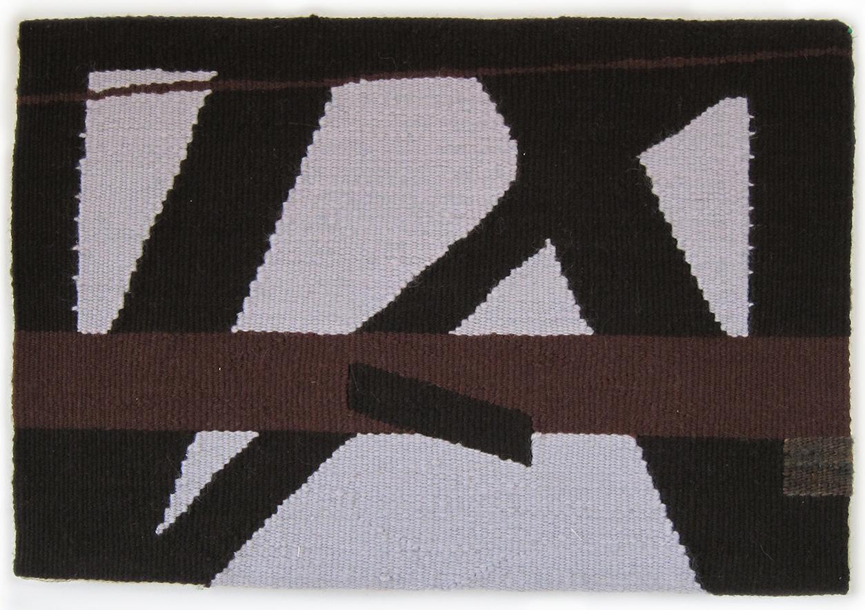"Steel , detail, wool on cotton, 10"" x 15"""