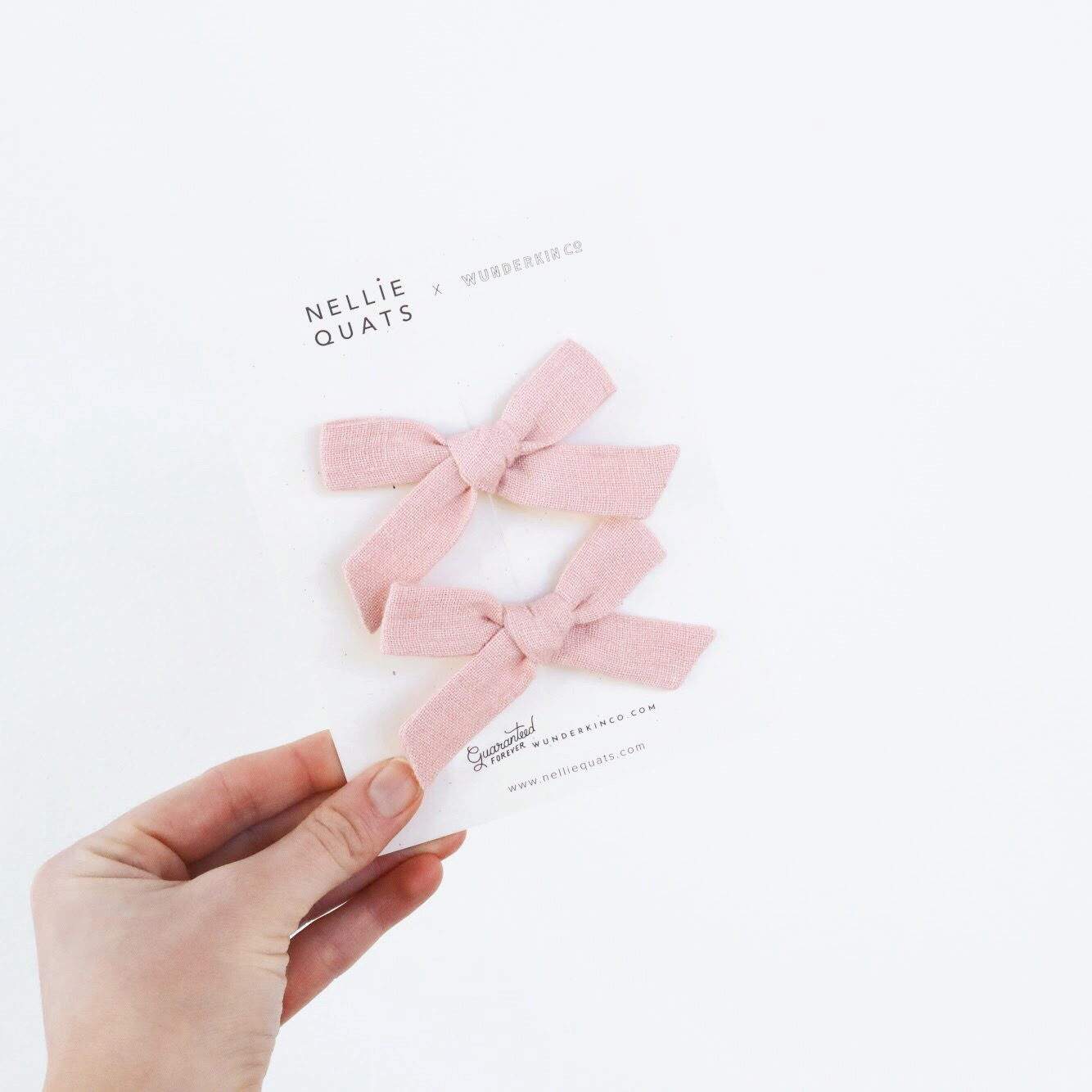 Baby Pink Linen petite schoolgirl pigtail set.JPG