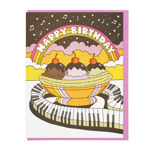 C362 Happy Birthday Musical Banana Split
