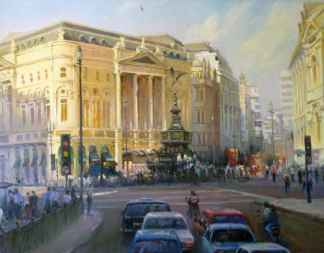 This painting subconsciously inspired me to move to London, UK. Piccadilly Circus means more than just a pretty roundabout to me.
