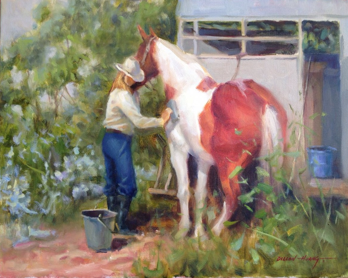 Caring for Her   Oil   16 x 20   $2,225 USD