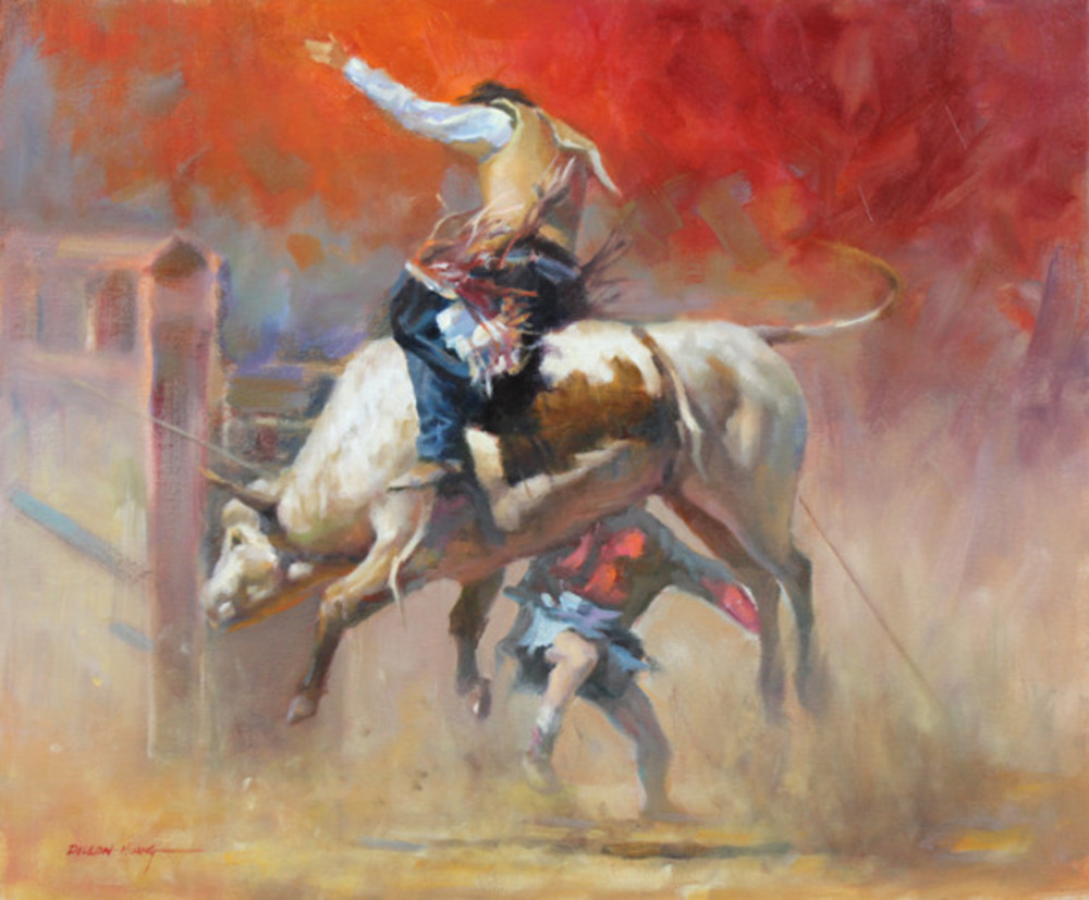 The Bull Rider  Oil   20 x 24   $3,075 USD