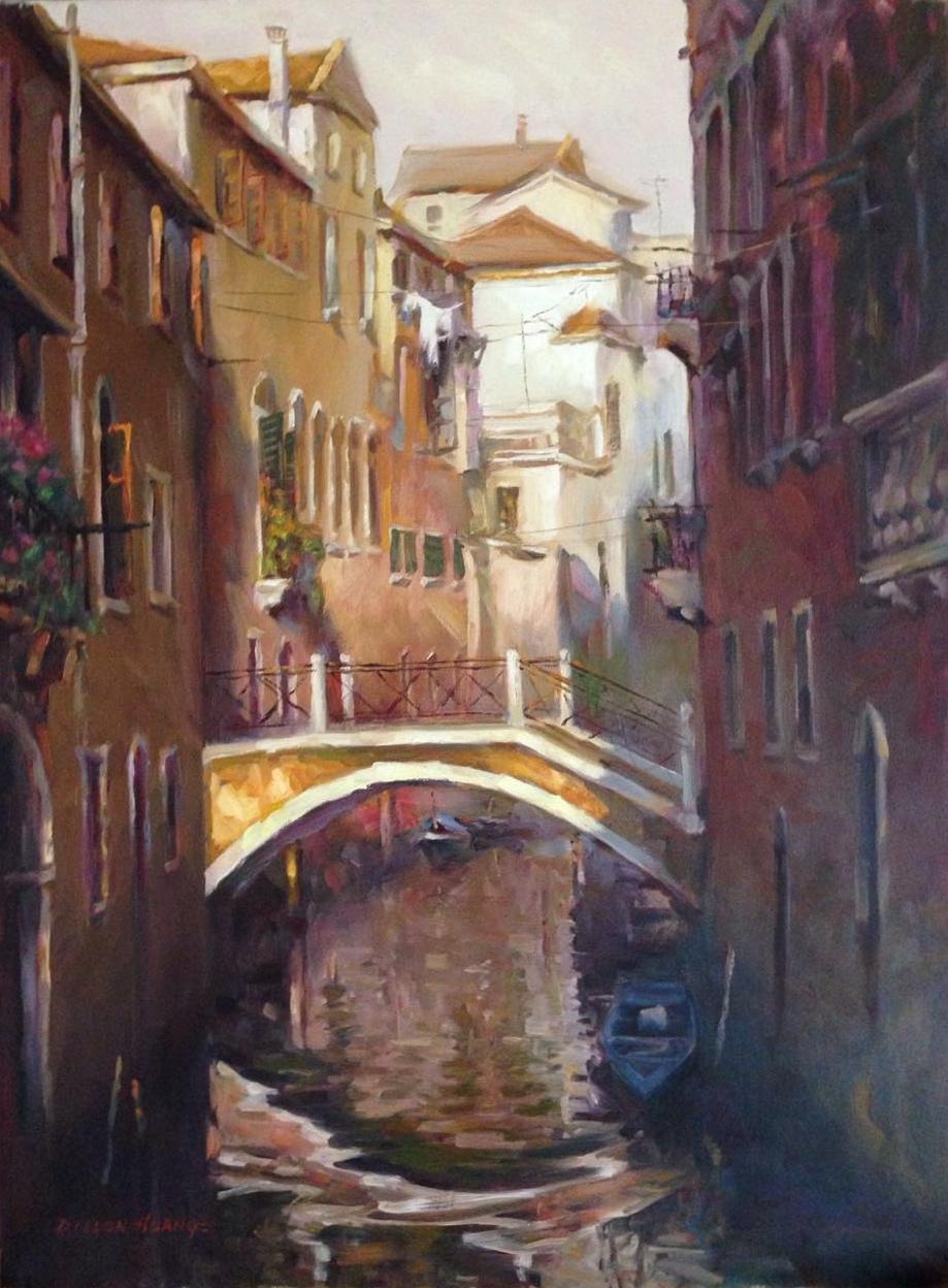 A Quiet Moment in Venice   Oil   30 x 40