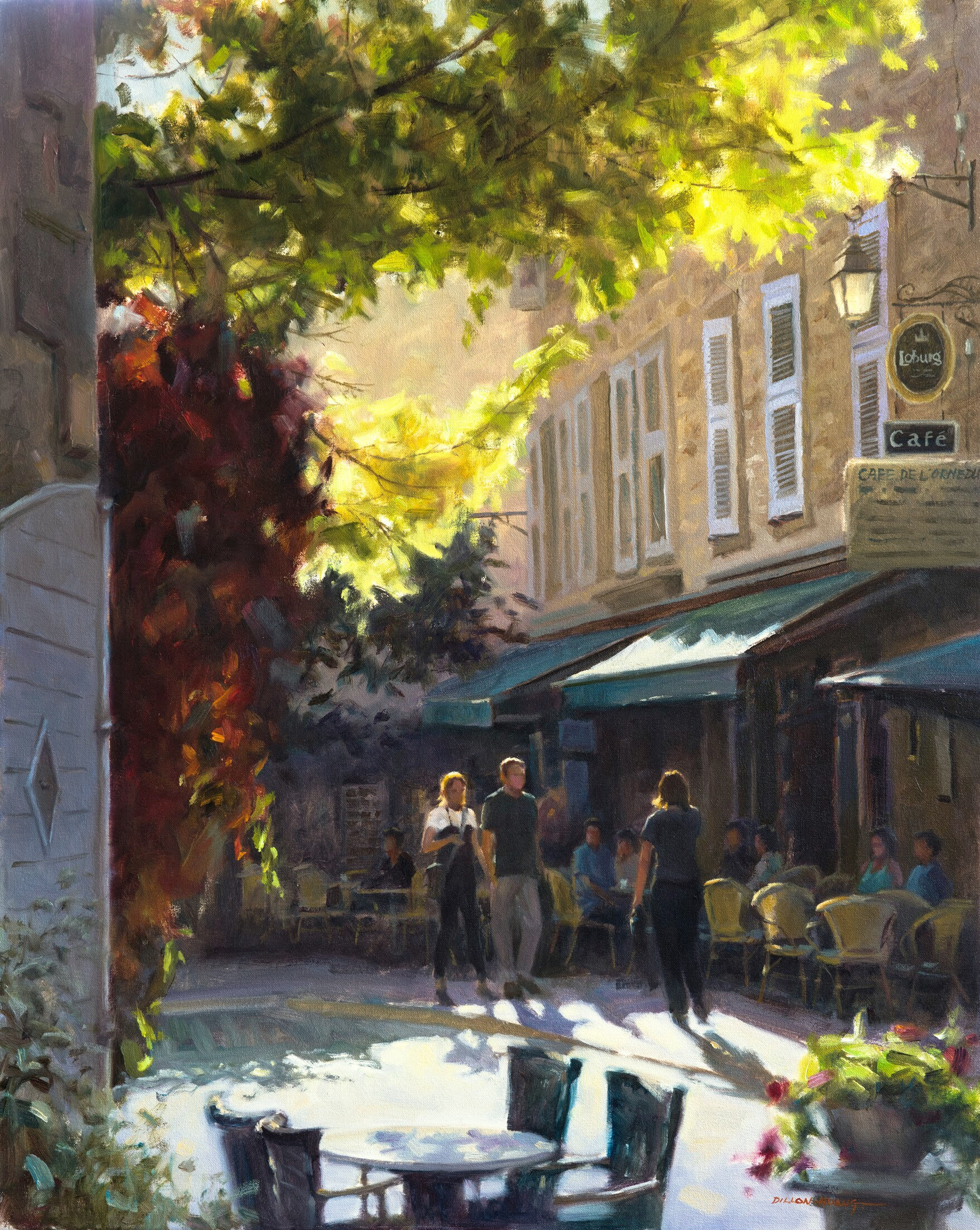 Afternoon Stroll   Oil   24 x 30