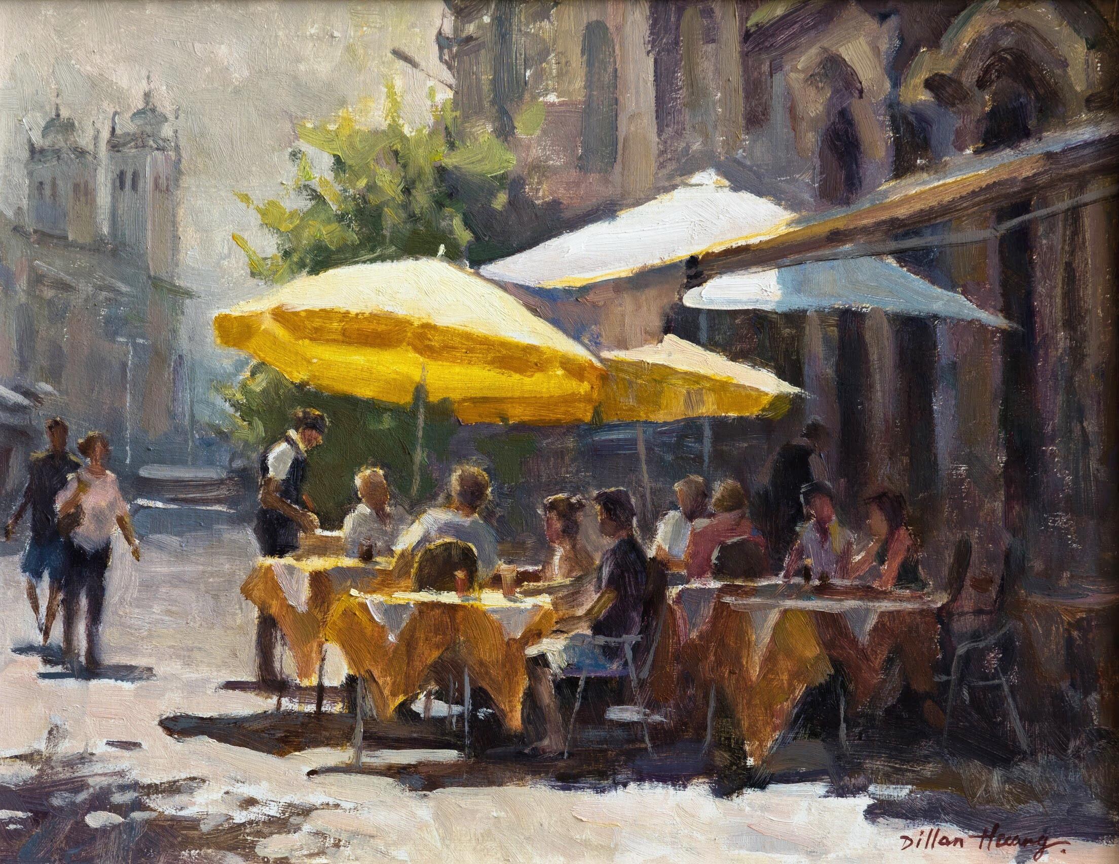 Coffee Shop in Lisbon   Oil   11 x 14