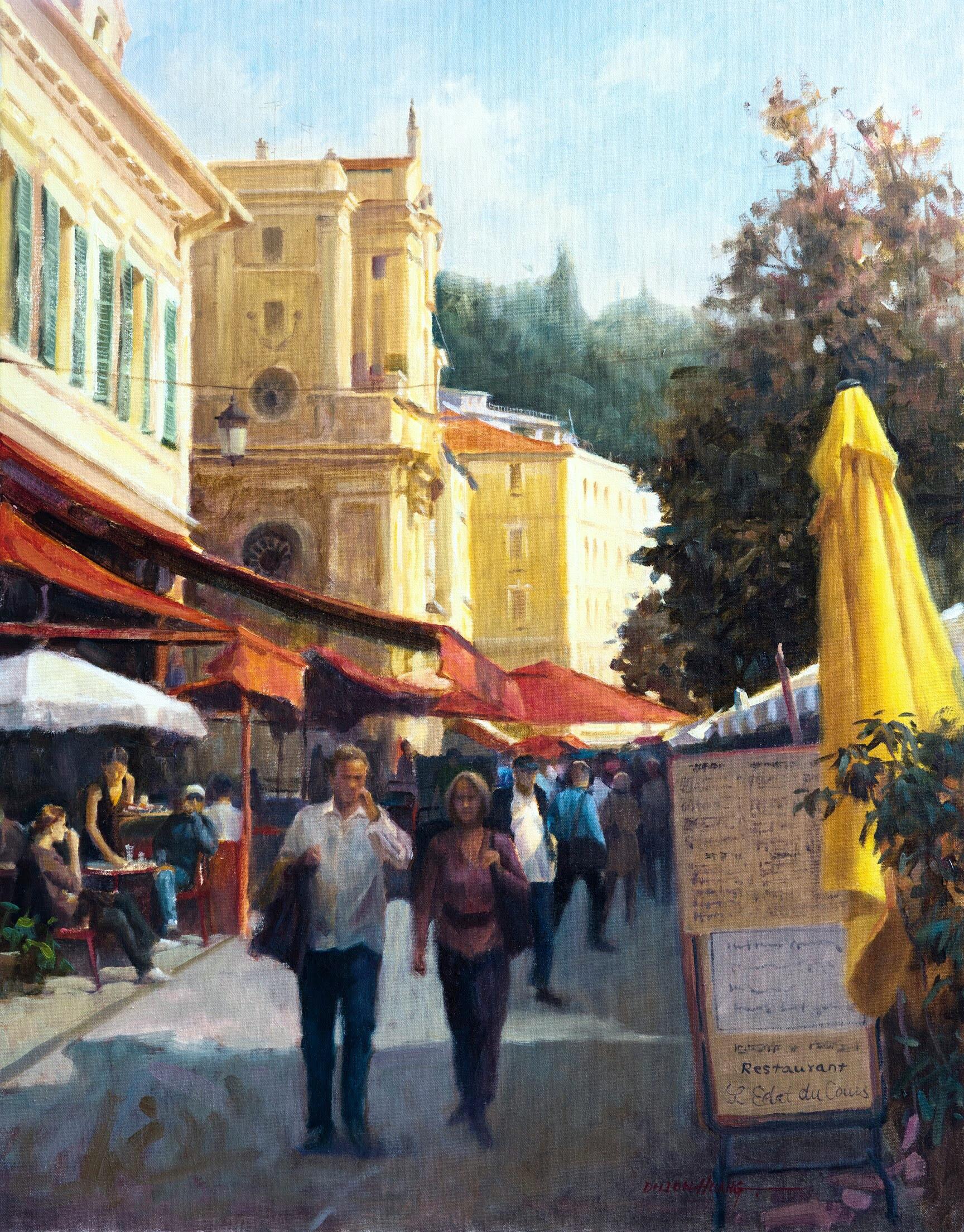 Sunday in Nice   Oil   22 x 28