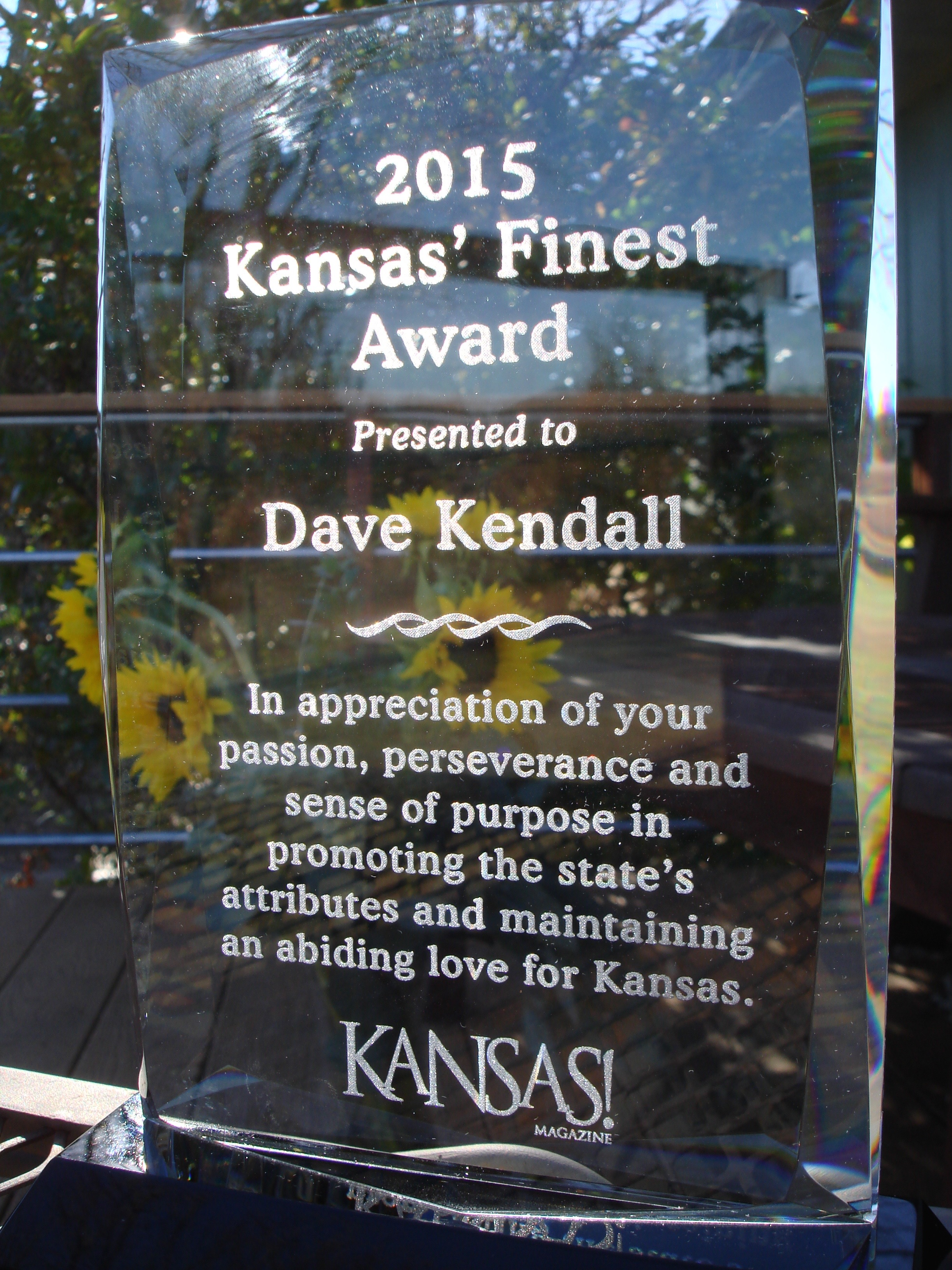 Thanks to   Kansas!   magazine for this handsome award.