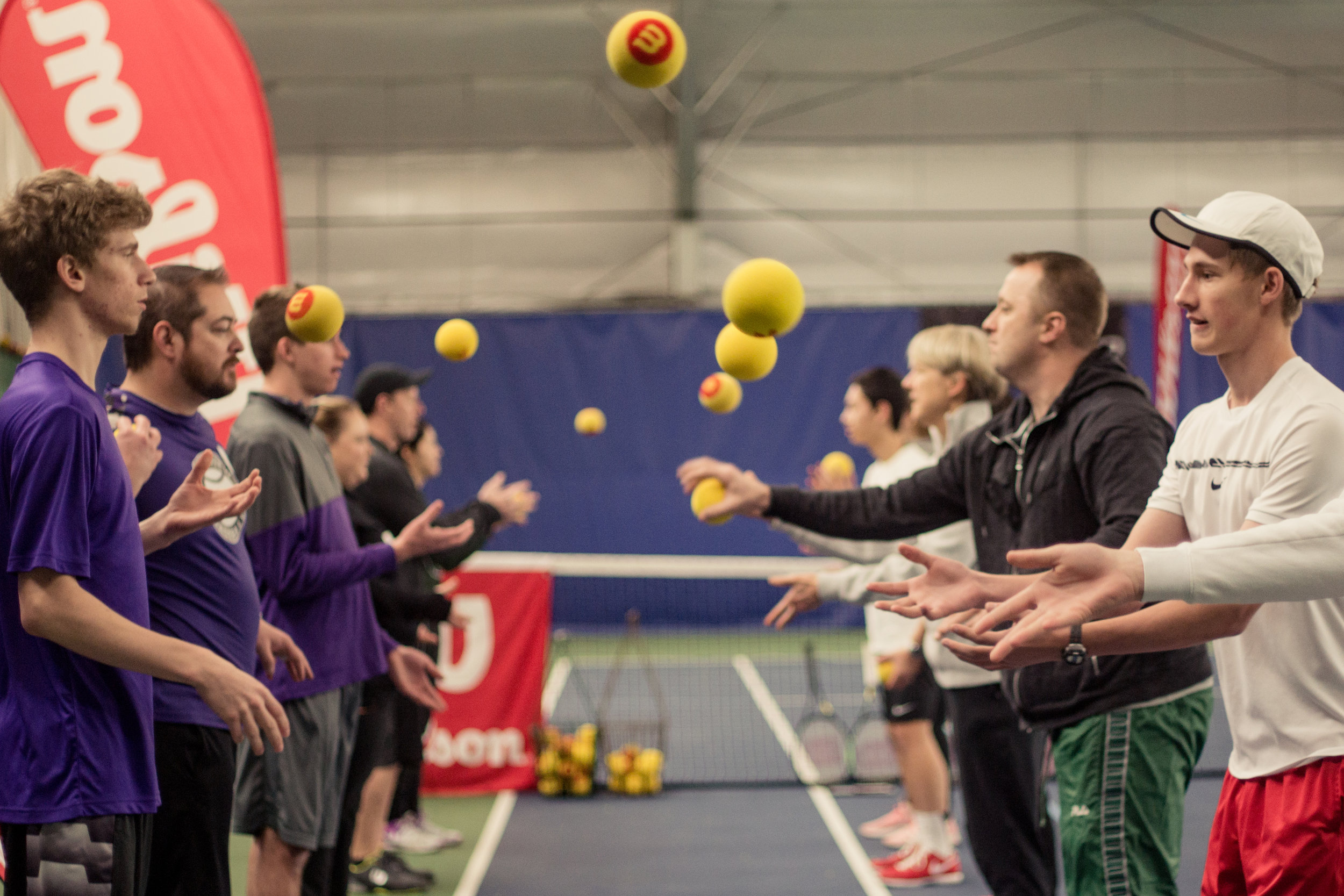High school tennis - We run coaching clinics and work with tennis coaches from around the region to build on their educational approaches to better mentor the next generation of players.