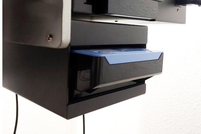 Maintenance Cartridge box installed in Maintenance cartridge box - mounted to Backing plate