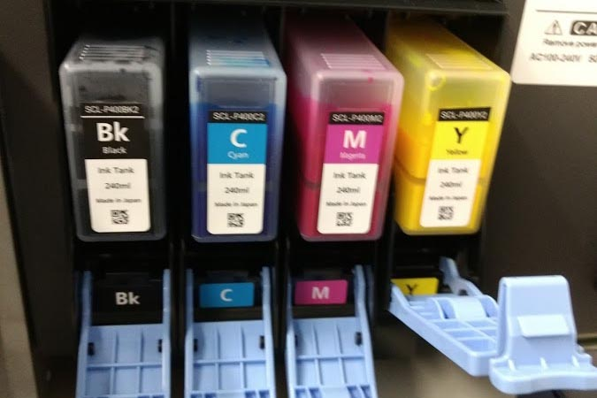 Figure 12: Ink Cartridges in Ink Tank Holder