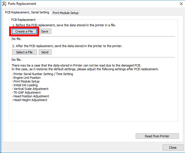 Figure 3: Create a replacement file