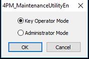 Figure 13: Maintenance Utility mode selection