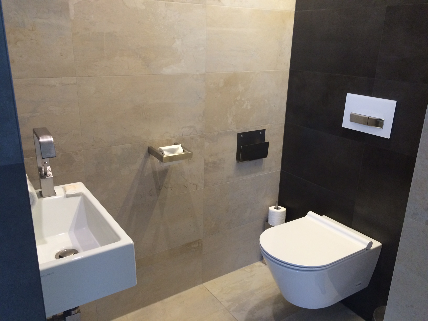The toilet room (separate from shower).