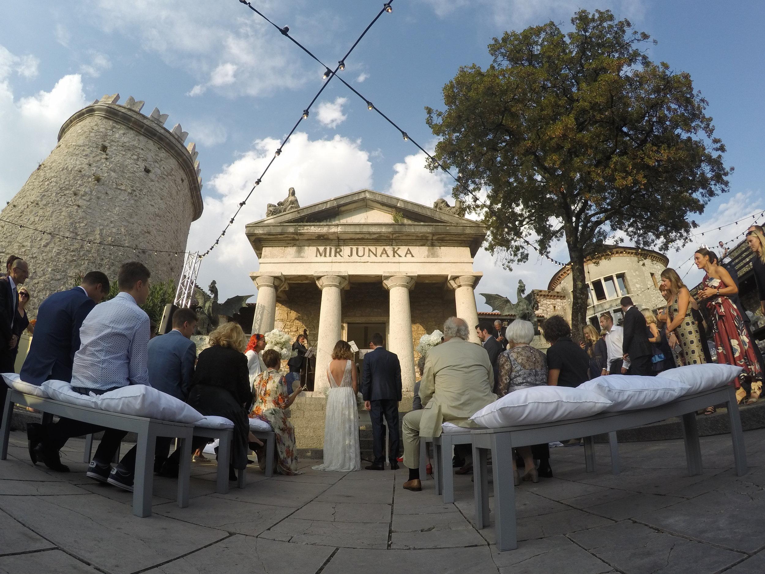 A stunning, fairy tale castle wedding celebration in Rijeka, Croatia.