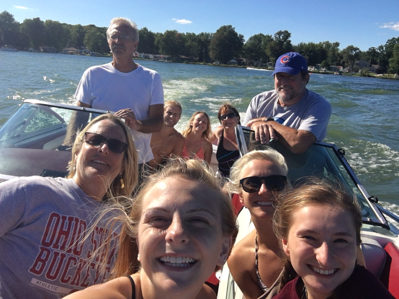 Some good family time on the lake.