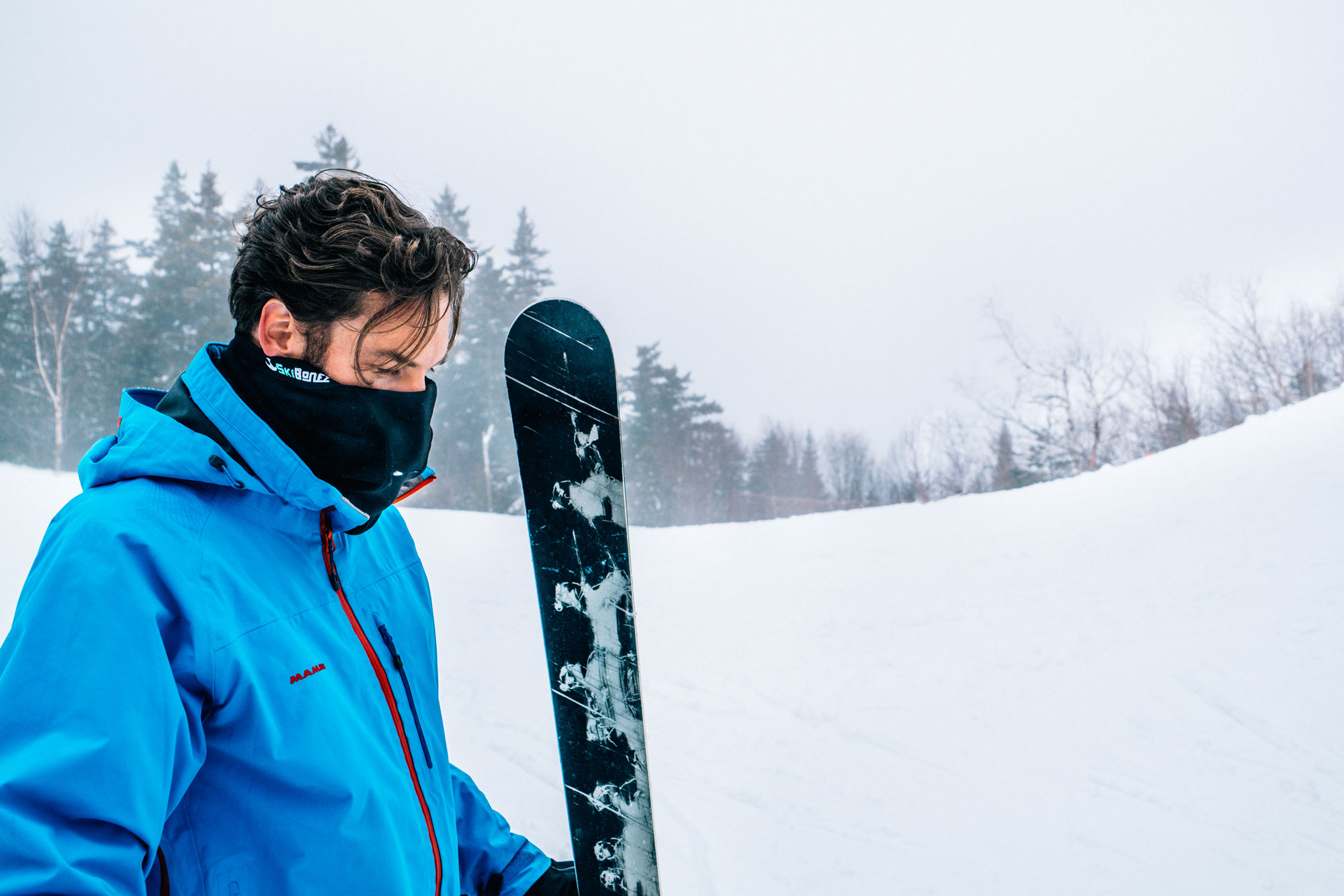 You see a lot of exposed faces on the slopes. - The reason? Ski masks kind of suck. Sure, they'll keep you warm, but only while fogging up your mask, soaking up your sweat, and generally making it harder to breathe. Some people would rather just be cold.
