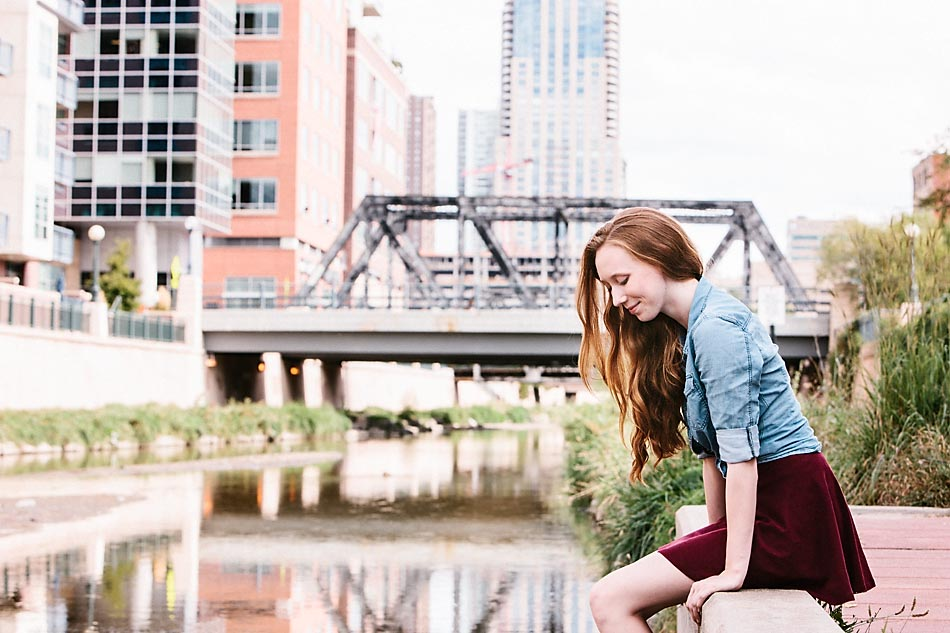 Quiet moment with Linnea during her senior portrait session.