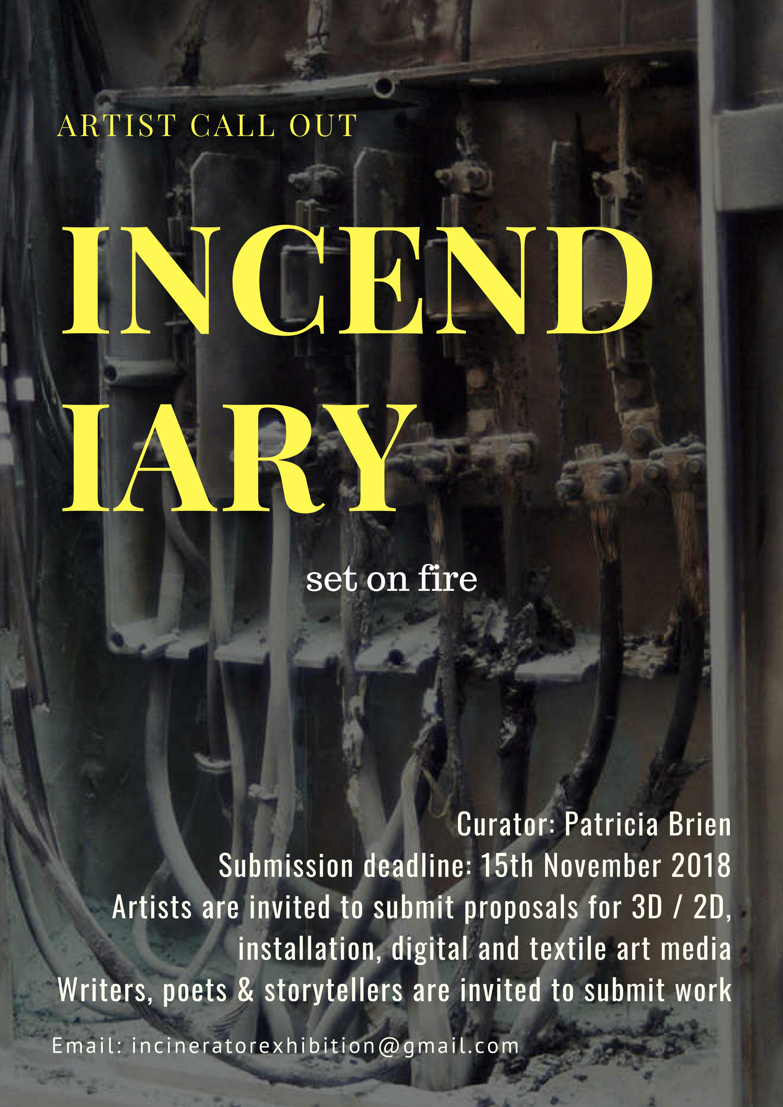 Call Out for artist response to Incinerators, fire, regeneration, pollution, airborne toxicity