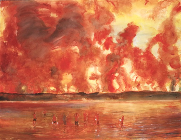 "Rod Gray, The Burning World (2018)  @ Hardwick Campus  Melbourne-based artist Rod Gray: ""Fire, the elements, and human agency are at the core of my thought and art practice. Figurative expressionist in approach, I'm driven by the need to fully sense our impact in the natural world and it's echoes across land and time.""   http://rodgrayart.com"