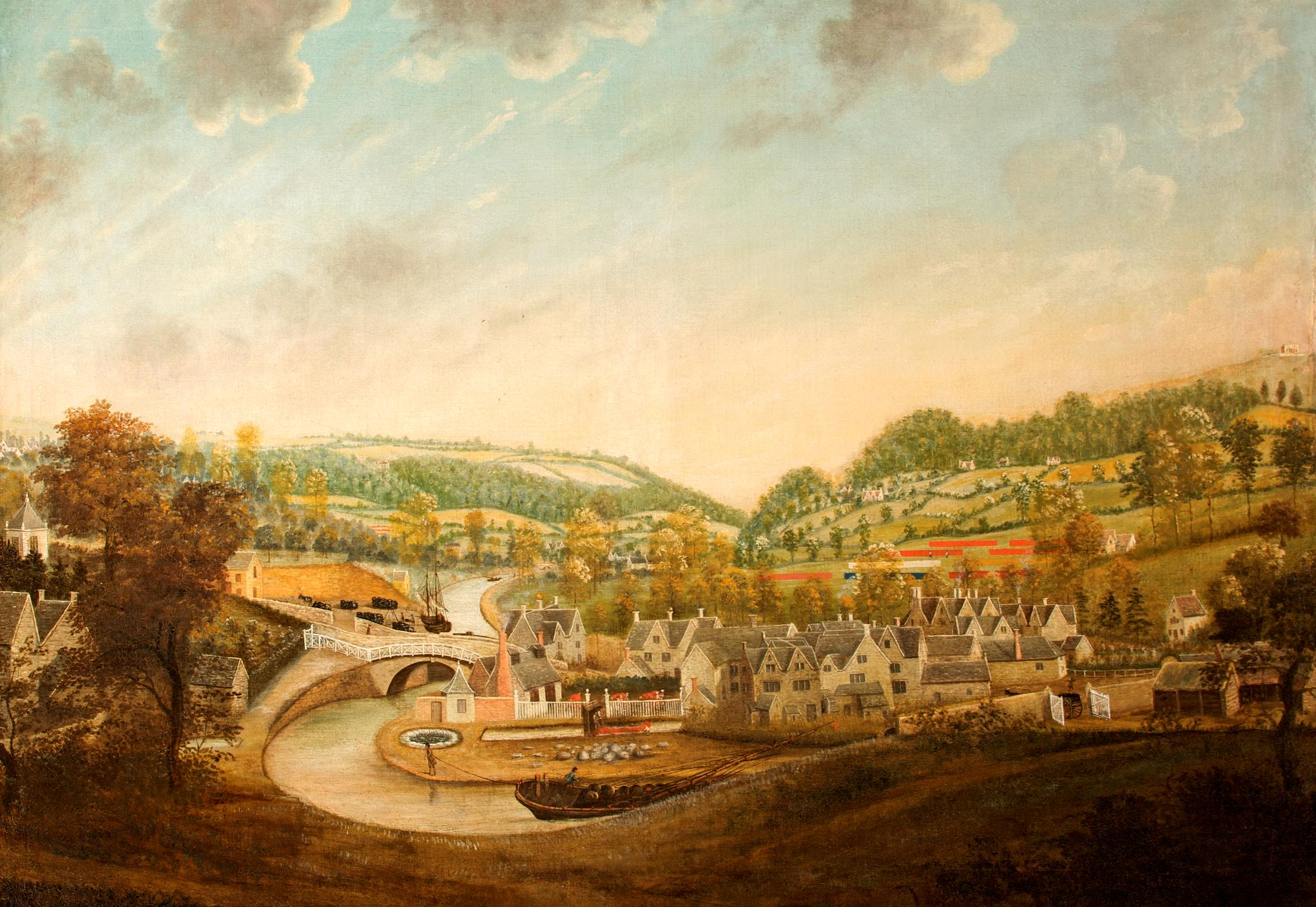 View of Wallbridge c.1785 © Museum in the Park, Stroud. Artist unknown.