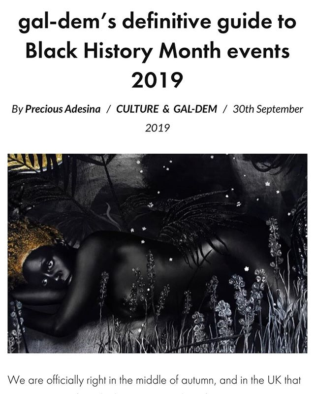 @galdemzine thanks for the suggestion in your definitive guide to Black History Month events 2019 🙌🏽🎥🍊🍿