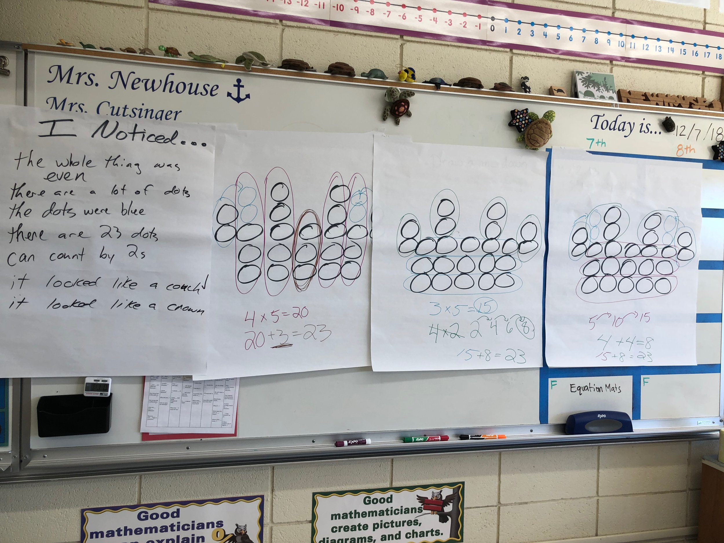 """Contemplate Then Calculate - Similar to Dot Talks, this Routine for Reasoning """"fosters structural thinking, math practice 7.""""Invites students to describe, represent, and interpret."""