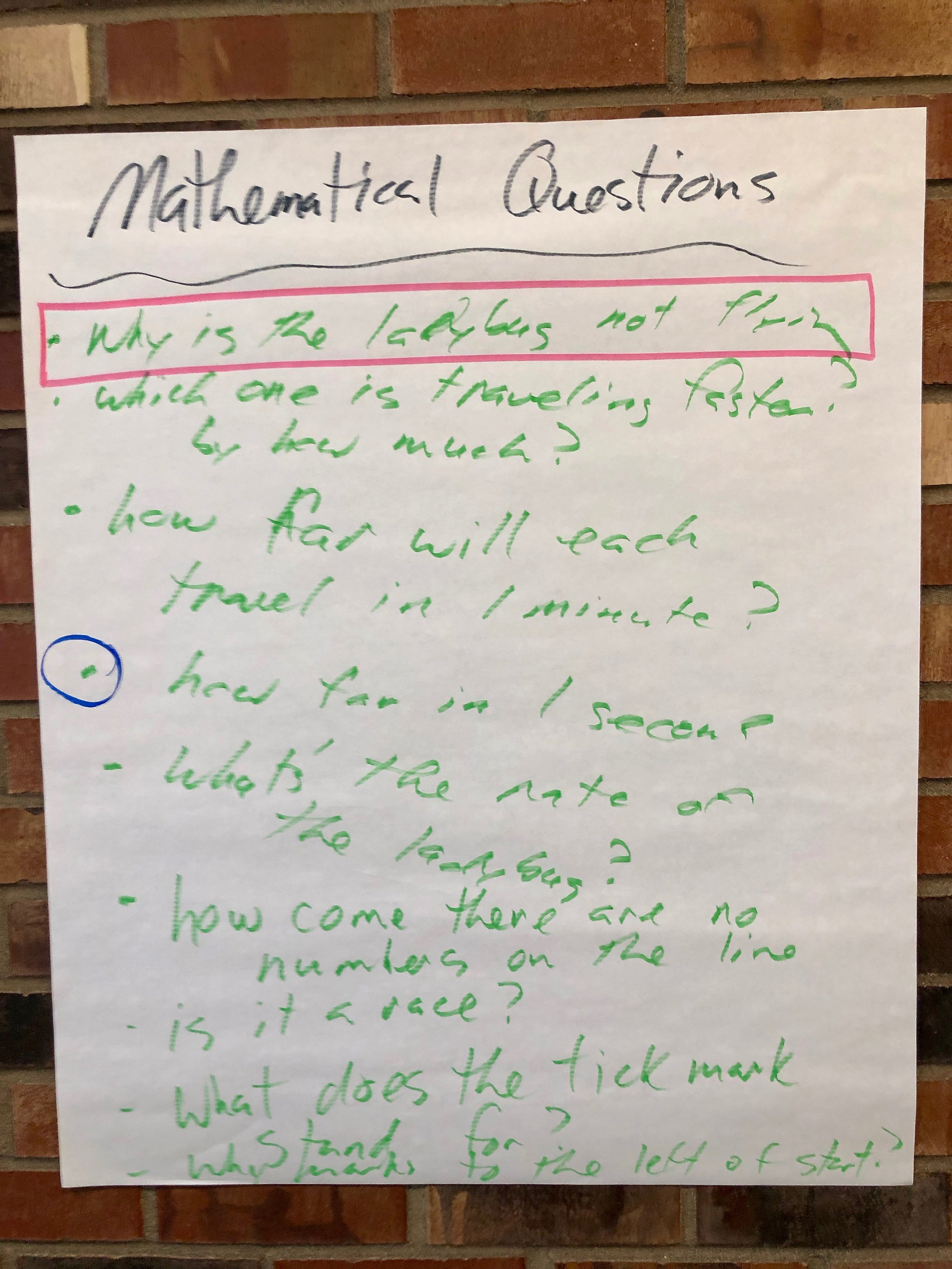 """Mathematical Language Routine """"Co-Craft Questions"""" - Students use conversation skills to generate mathematical questions about a situation before asking students to produce answers to pre-determined questions. This routines lets students understand the context of the problem and attend to the details before doing problem solving begins. Students themselves produce the language of mathematical questions, like all mathematicians do."""