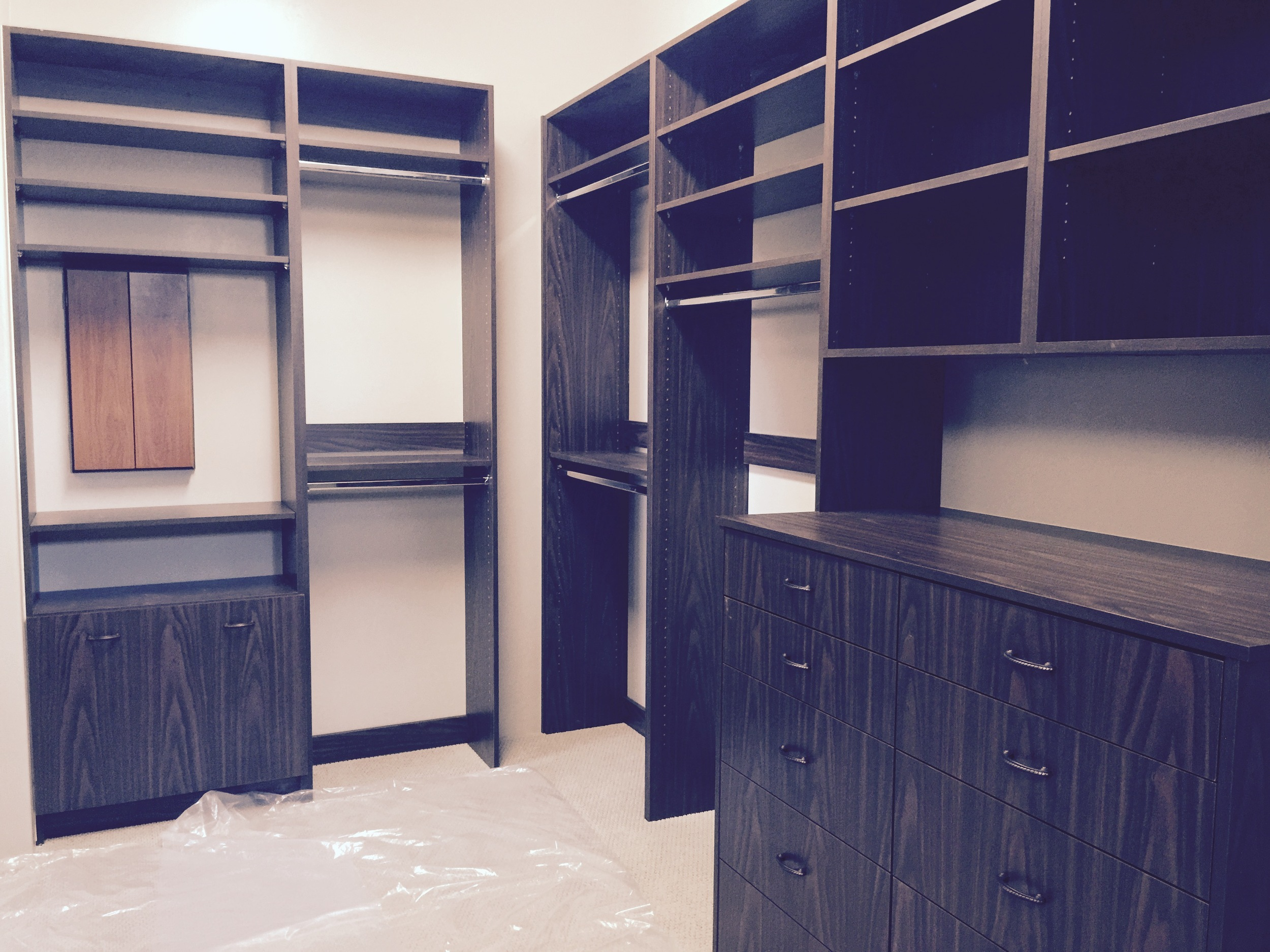 Double Hutch drawers and laundry basket