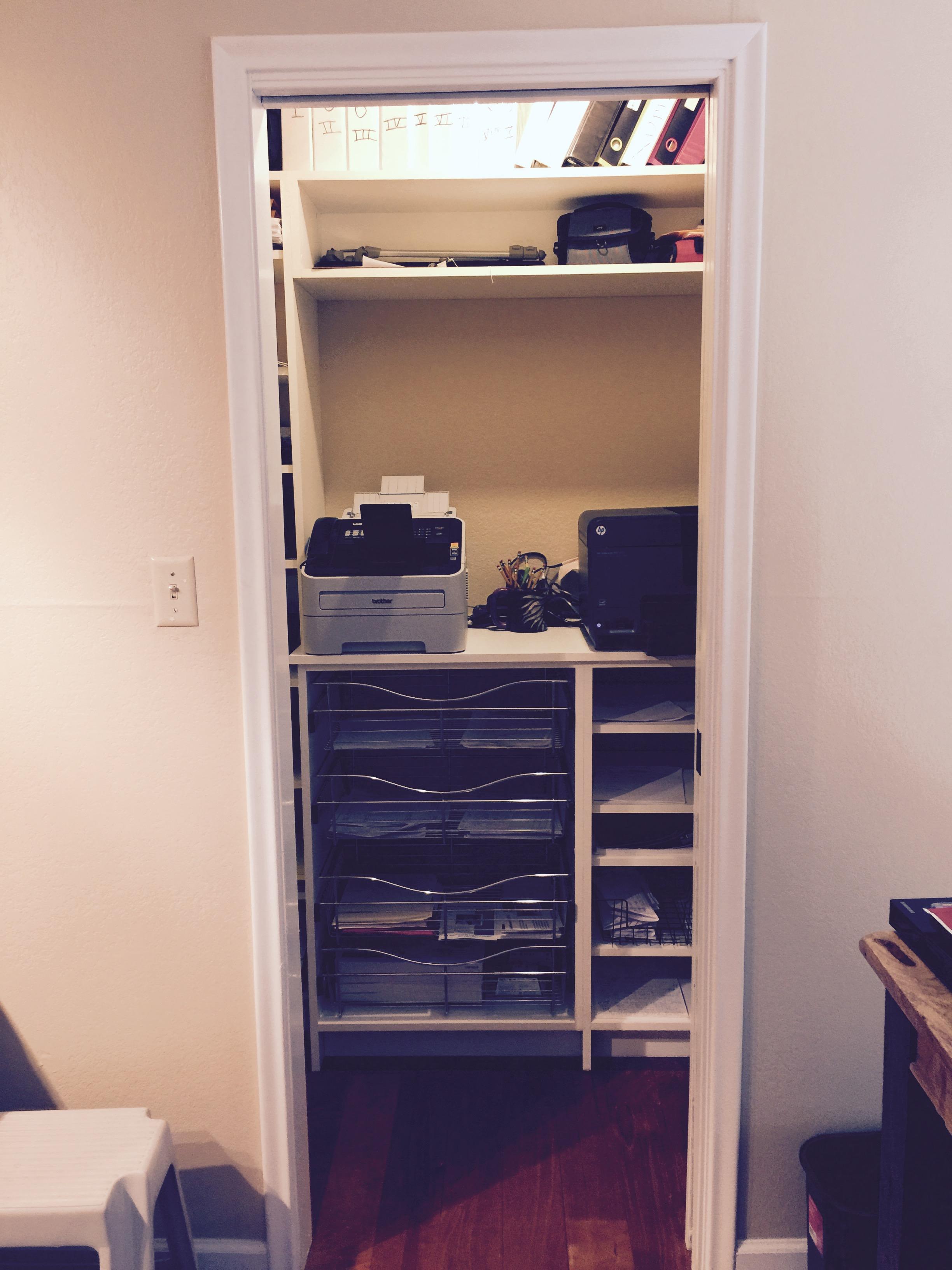 Office closet AFTER