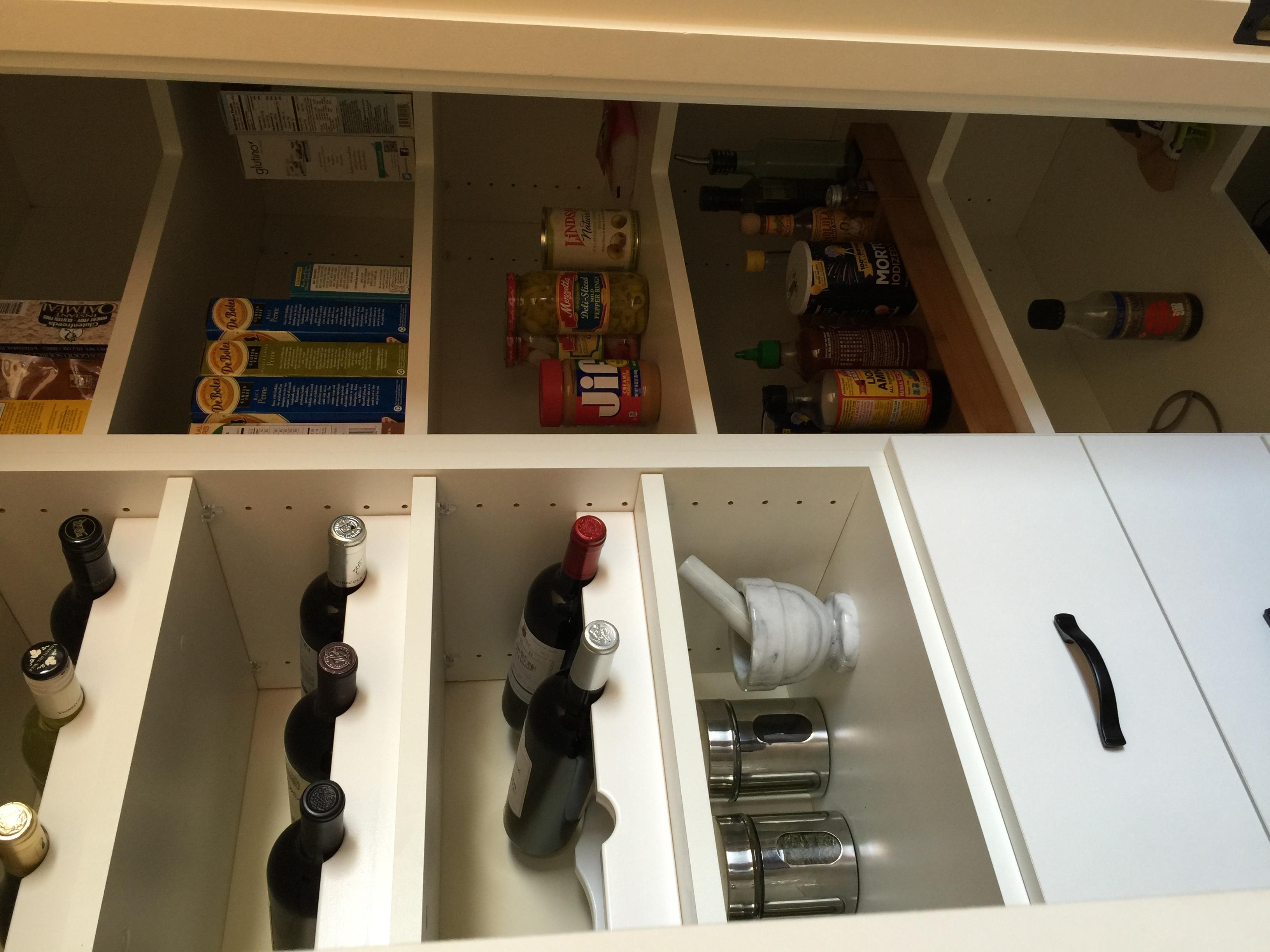 Pantry corner shelves