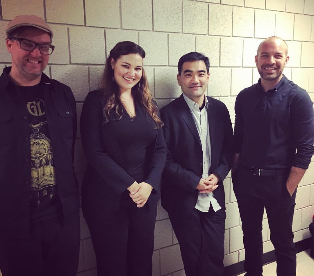 With Dai Fujikura after performing his  Being as One @ BGSU's New Music Festival (2016)