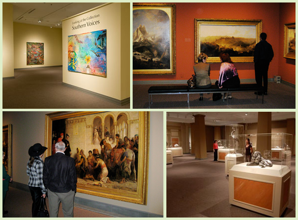 In the galleries at The Huntsville Museum of Art