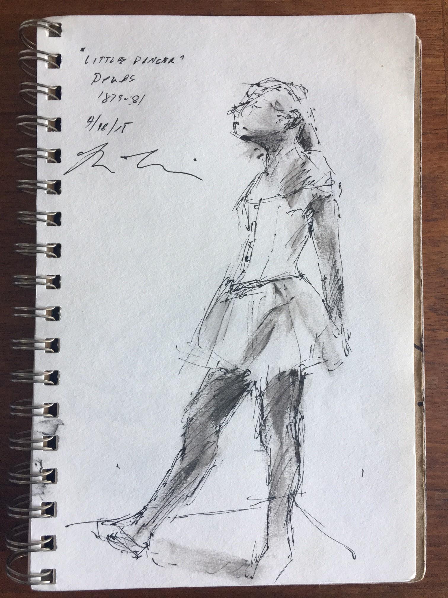 "Sketch by Brian Bomeisler--Degas' ""Little Dancer"""
