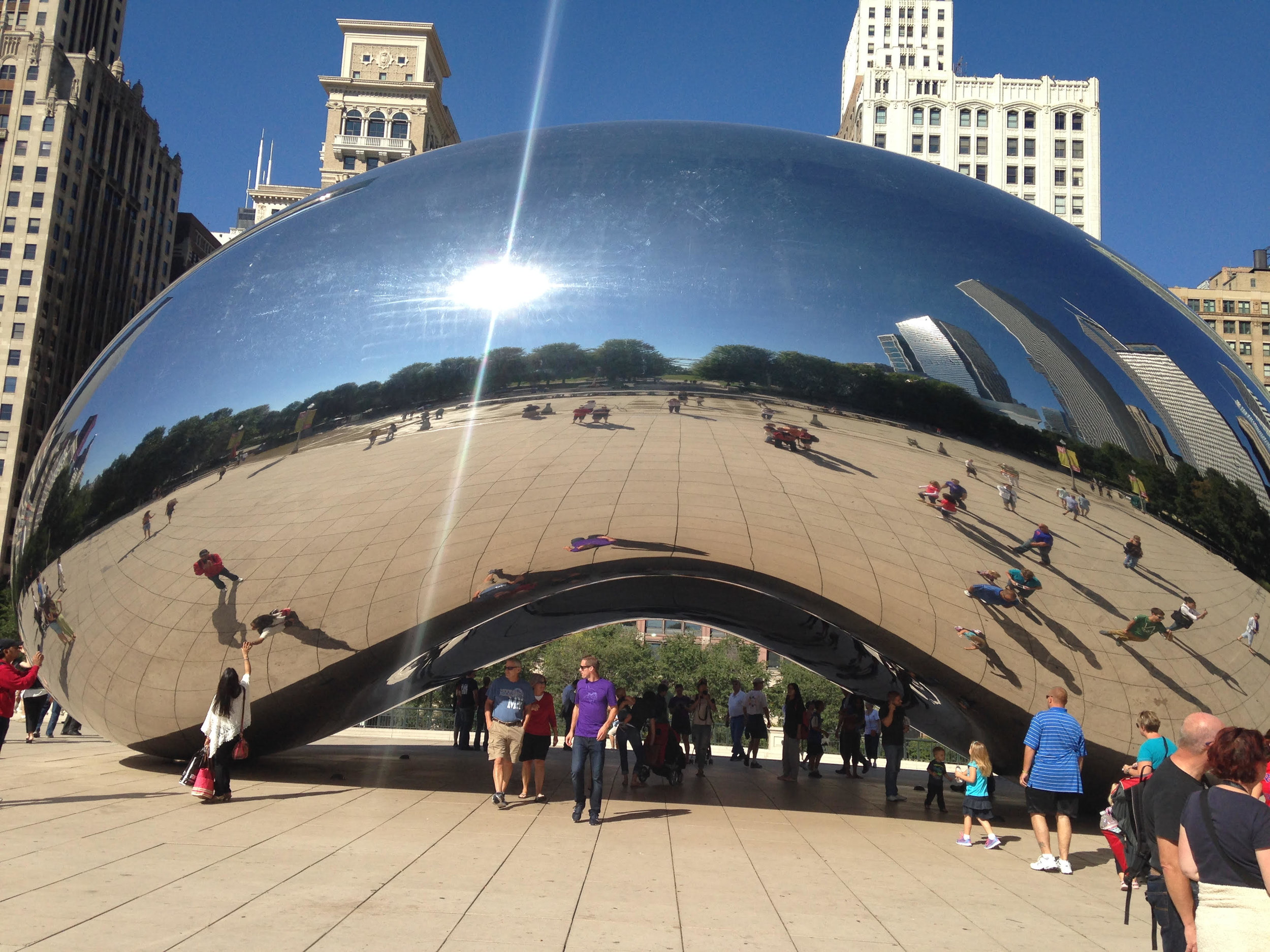 Cloud Gate  by Anish Kapoor in Millennium Park, Chicago