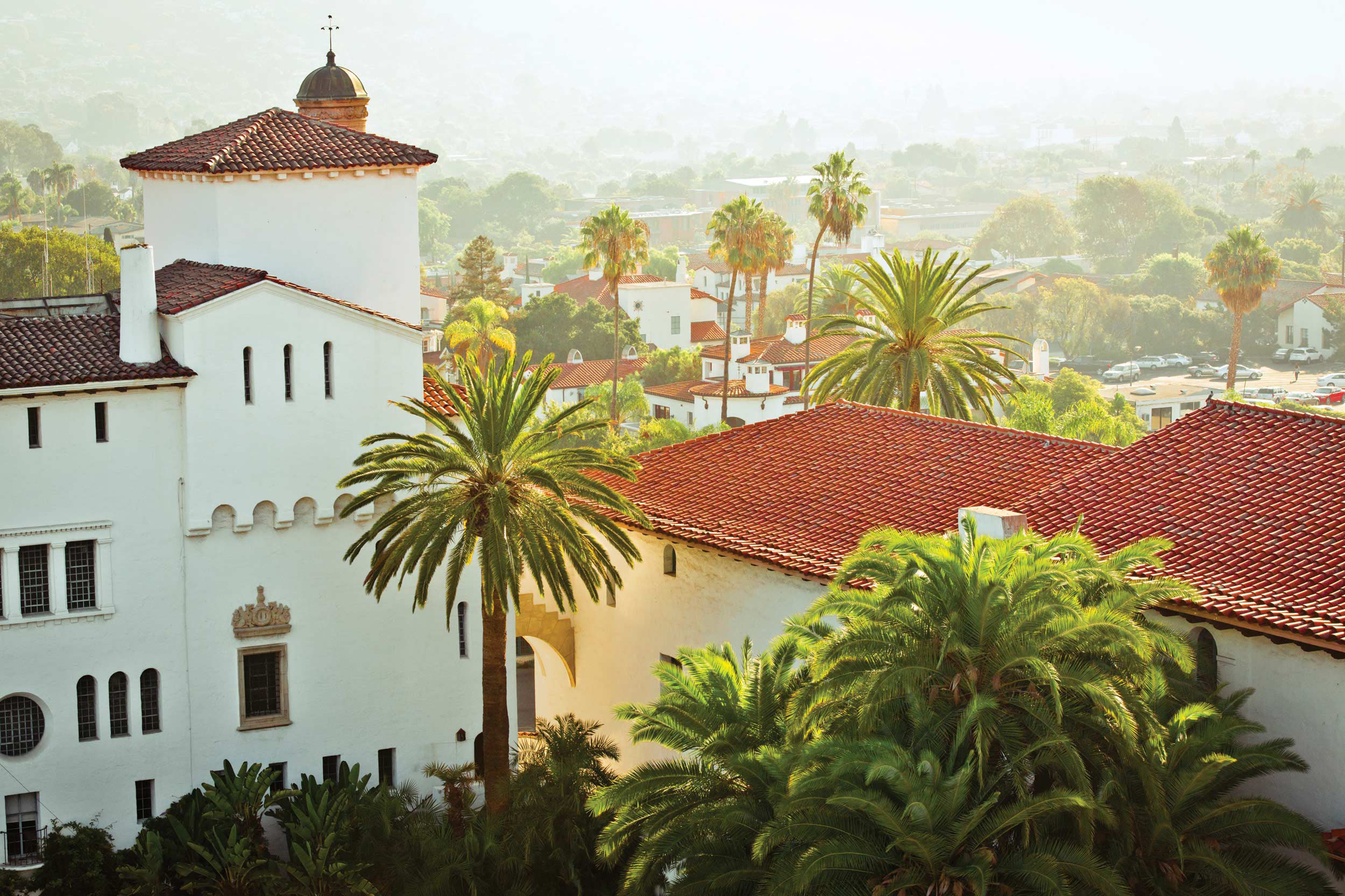 The Santa Barbara Courthouse, near downtown.