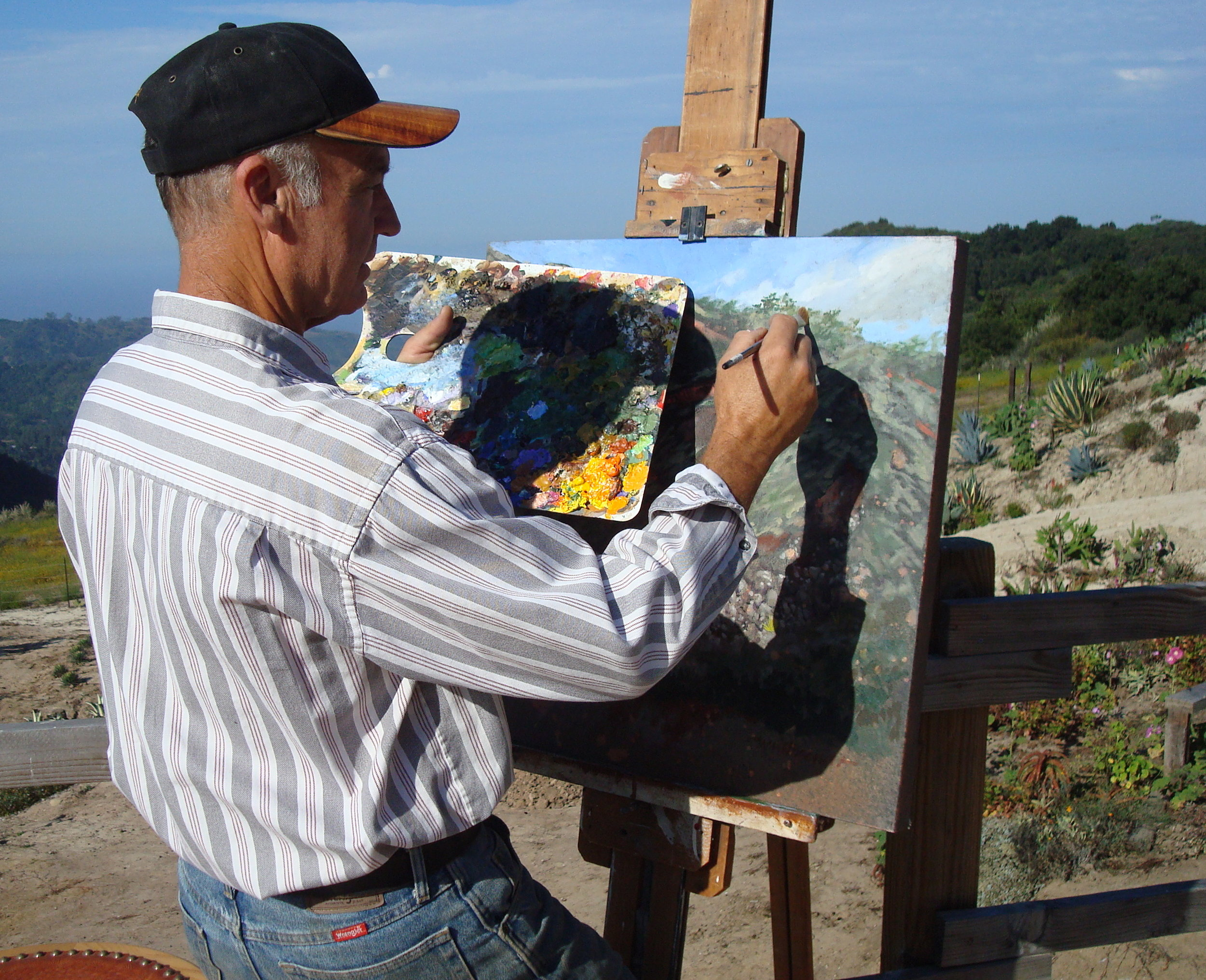 The artist at work in 2010.
