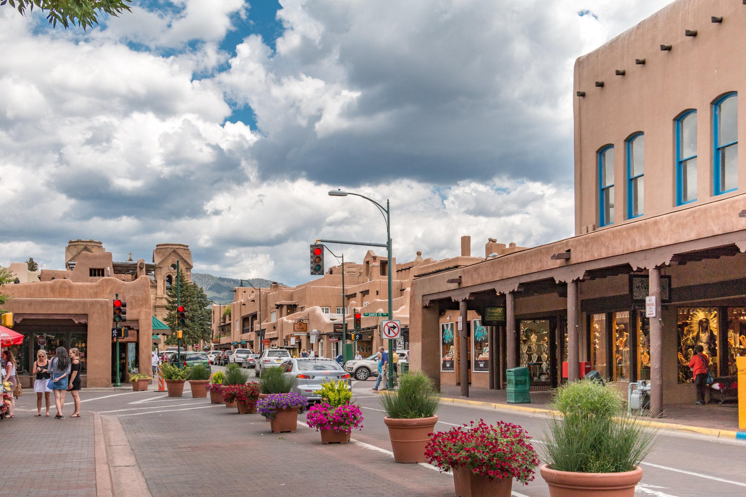 Colorful, beautiful downtown Santa Fe