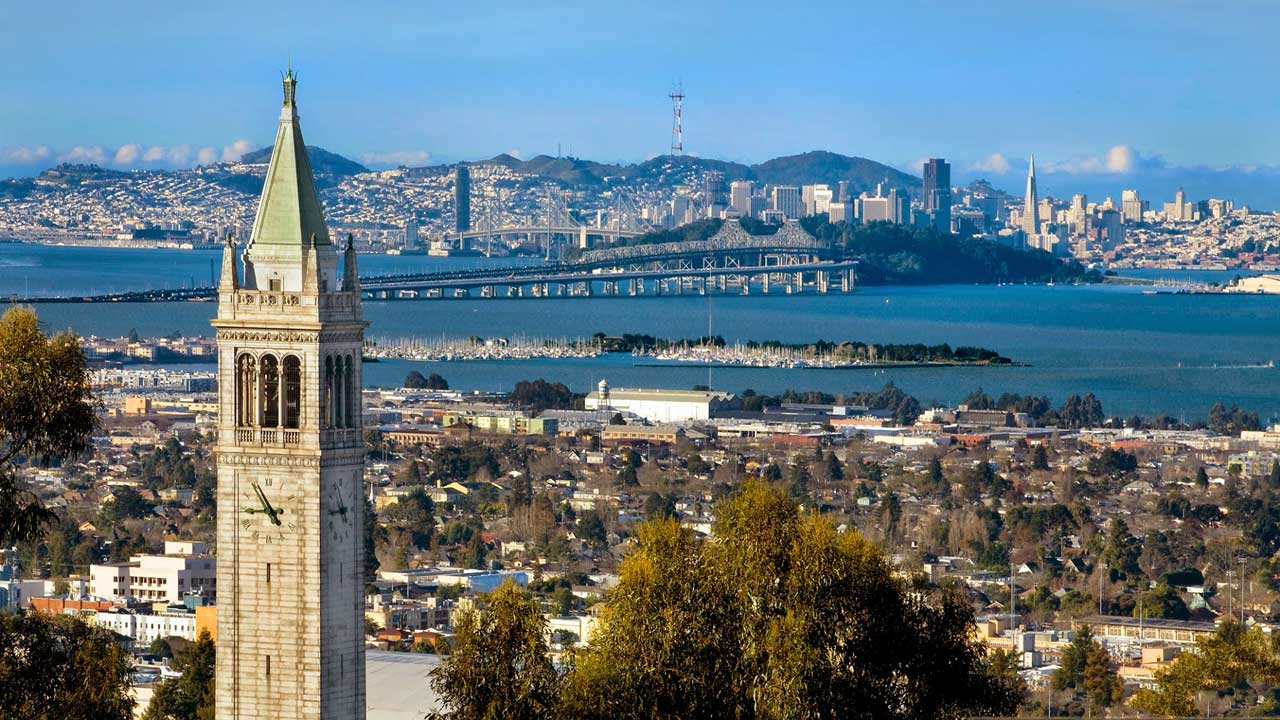 Berkeley is right across the bay from San Francisco.