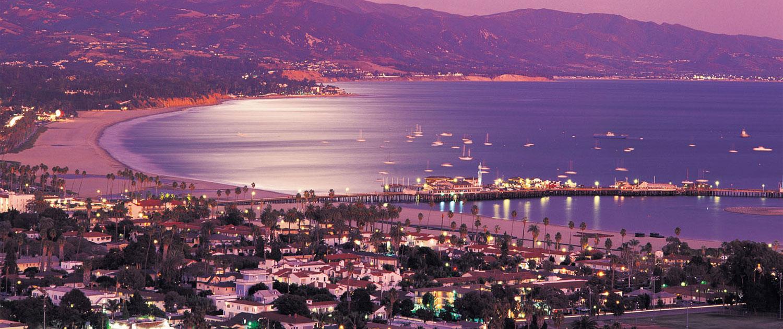 The amazing beach and harbor at Santa Barbara, California