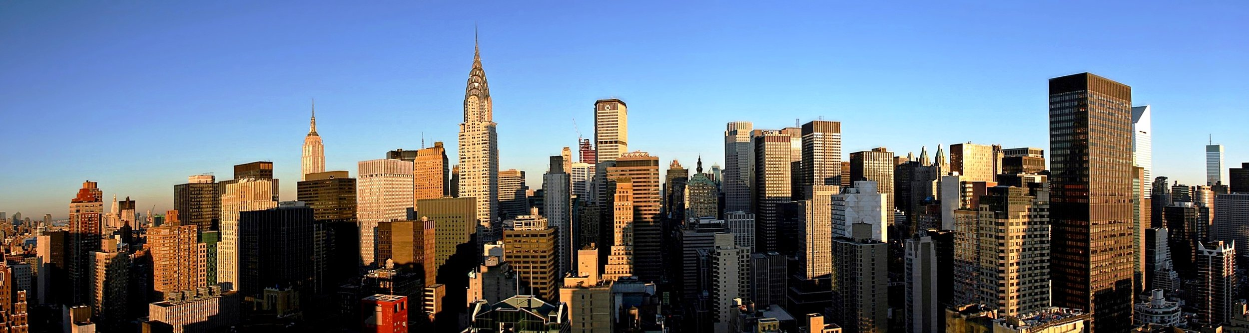 The iconic skyline of lower Manhattan's east side.