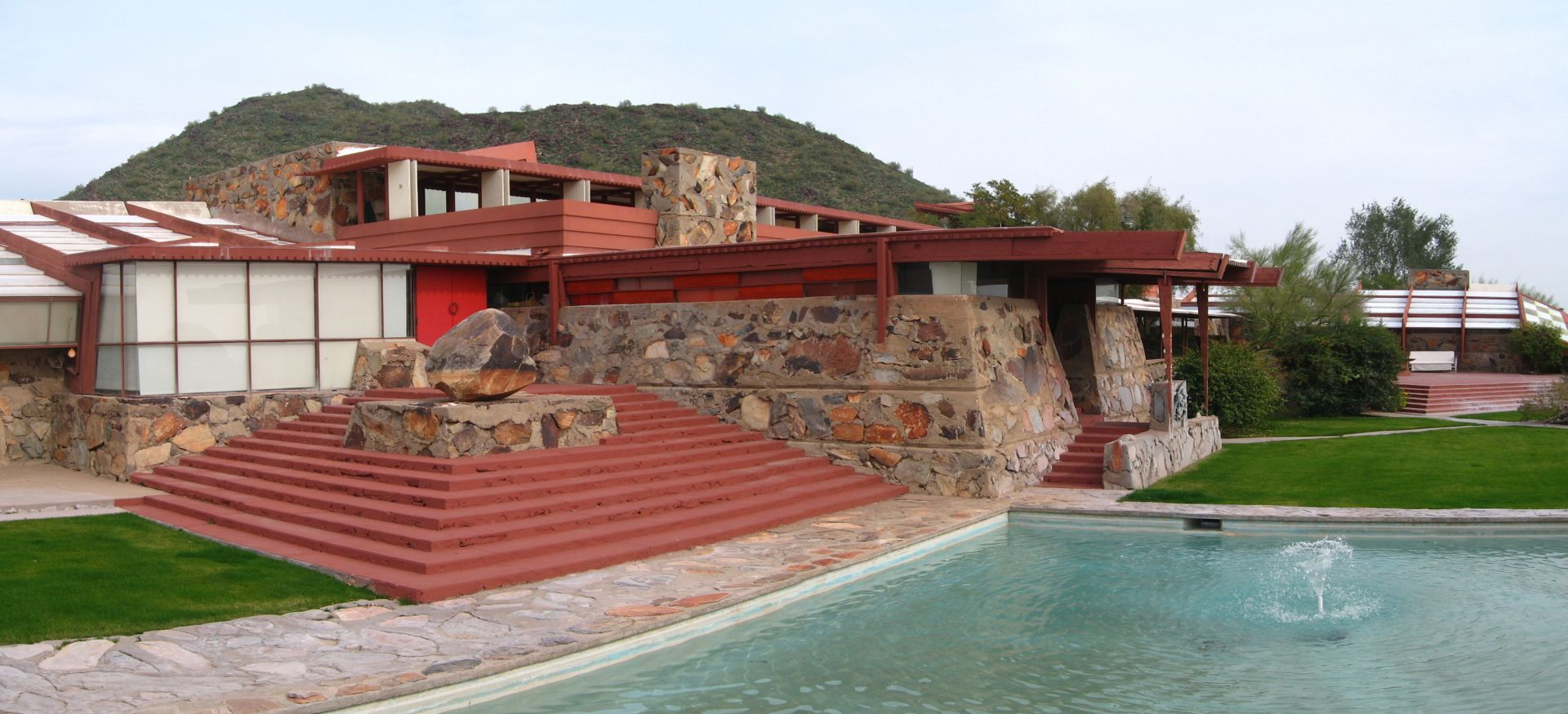 Frank Lloyd Wright's famed studio and residence, Taliesin West.