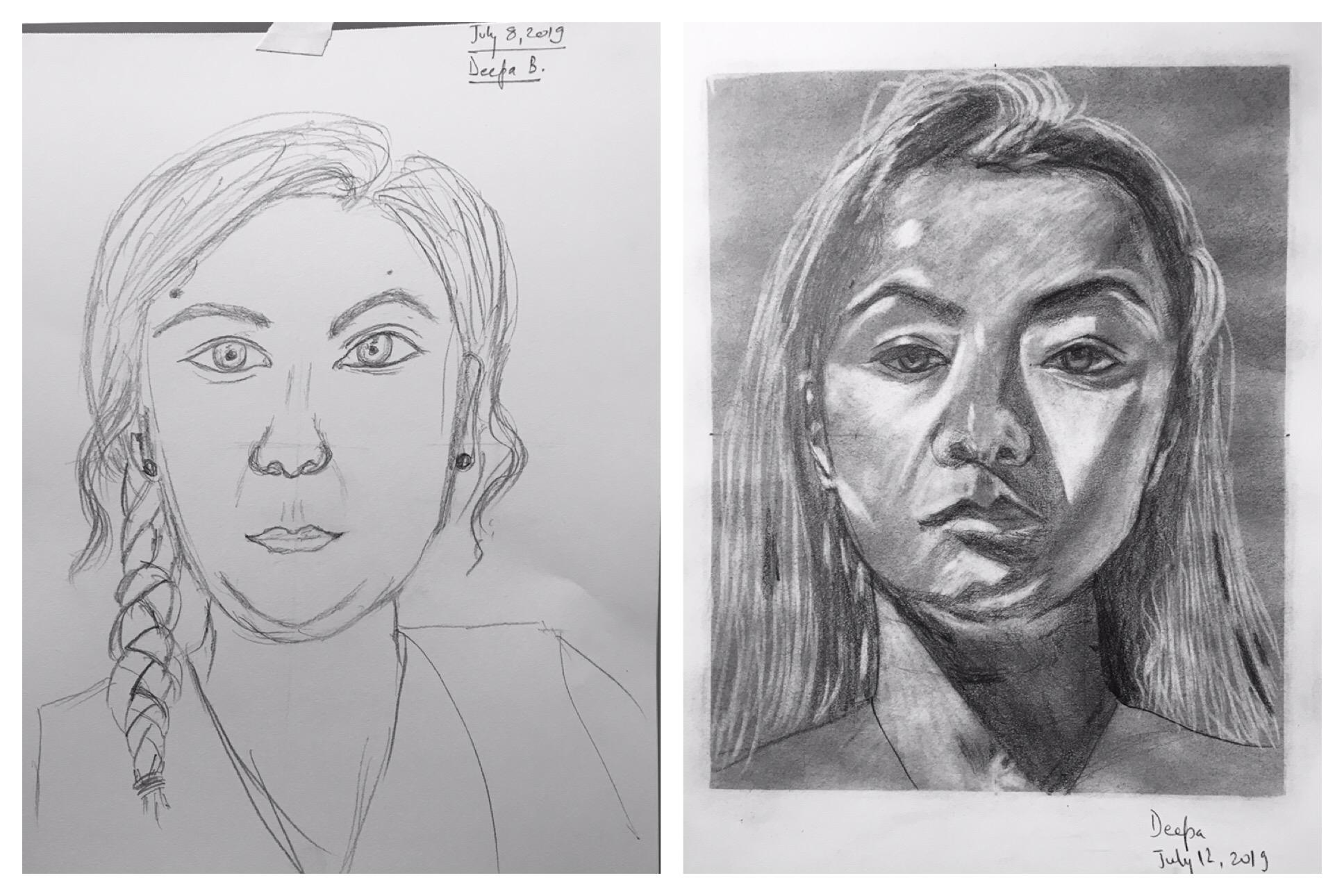 Deepa's Before & After Self Portraits
